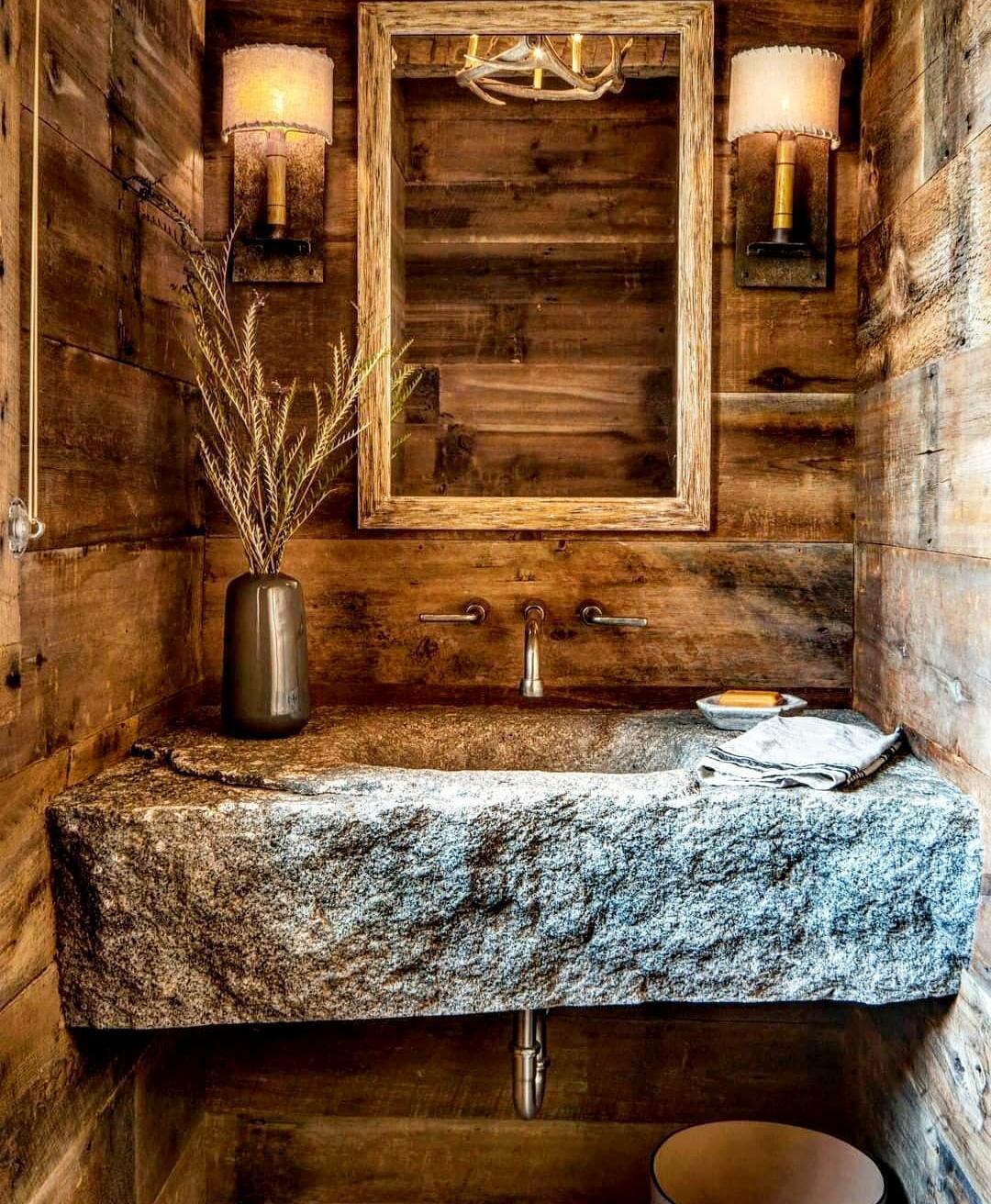 kupatilo u drvenom stilu